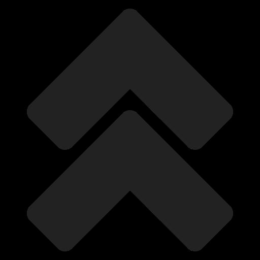 arrow, bt, double, move, navigation, top icon