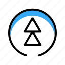 arrow, blue, circle, top, top arrow icon