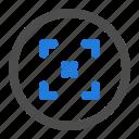 arrow, circle, direction, expand, navigation, resize, ui