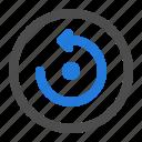 arrow, circle, direction, navigation, refresh, reload, ui