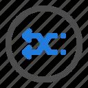 arrow, circle, direction, left, navigation, shuffle, ui