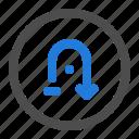 arrow, back, circle, direction, navigation, turn, ui