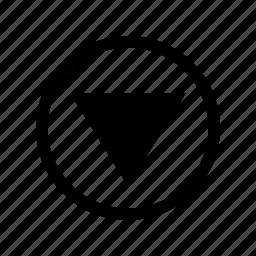 align, arrow, arrows, direction, down arrow, move, navigation icon