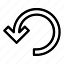 arrow, arrows, direction, navigation, outline icon