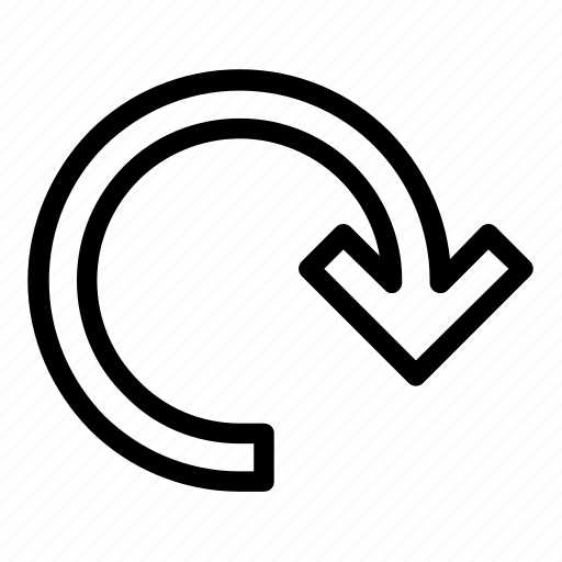 arrow, direction, location, map, navigation, outline icon