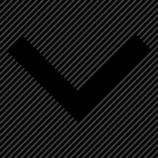arrow, direction, down, navigation, single icon
