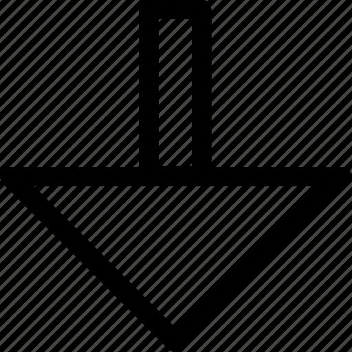 arrow, bottom, down, go icon