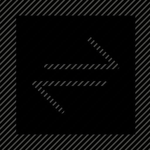 arrow, left, line, right, square, ui icon