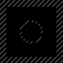 arrow, navigation, record, square, ui icon