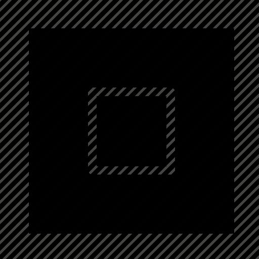 arrow, navigation, square, stop, ui icon