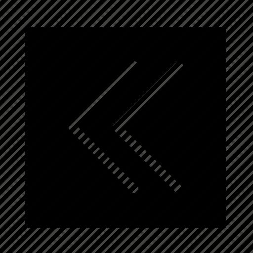 arrow, double, left, square, stroke, ui icon