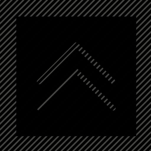 arrow, double, square, stroke, ui, up icon