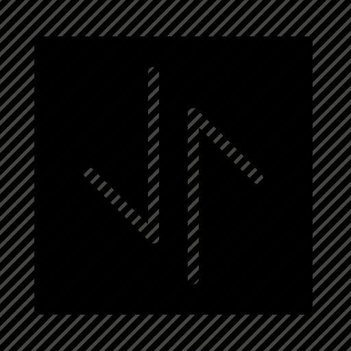 arrow, down, square, stroke, ui, up icon