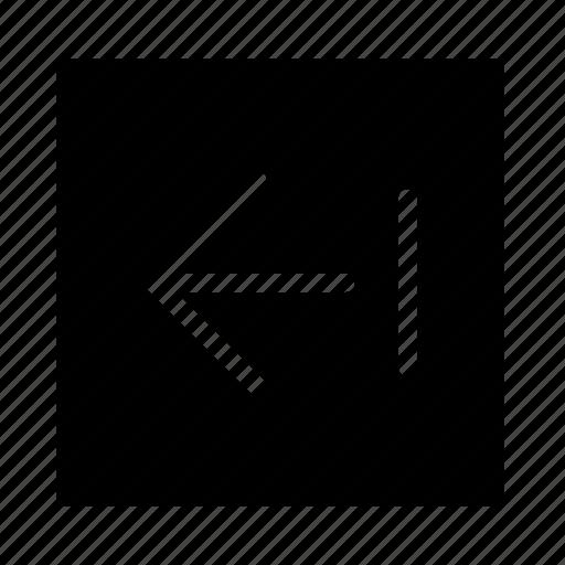 arrow, end, left, square, stroke, ui icon