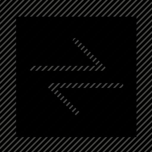 arrow, left, right, square, stroke, ui icon