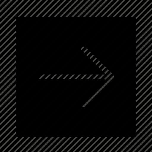 arrow, line, right, solid, square, stroke, ui icon