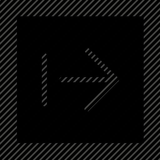 arrow, end, right, square, stroke, ui icon