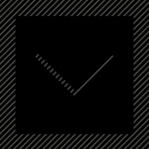arrow, down, square, stroke, ui icon
