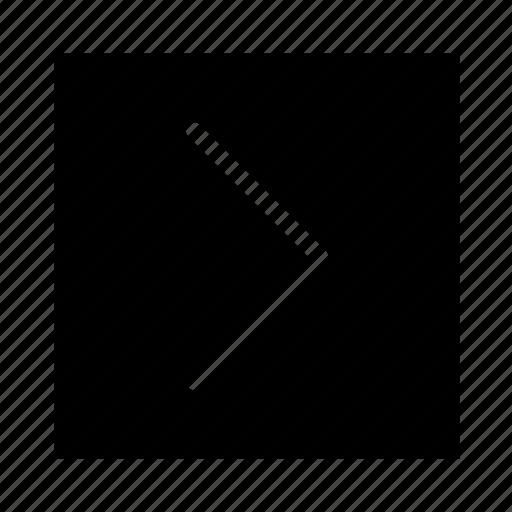 arrow, right, square, stroke, ui icon