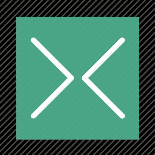 arrow, colored, in, left, right, square, ui icon