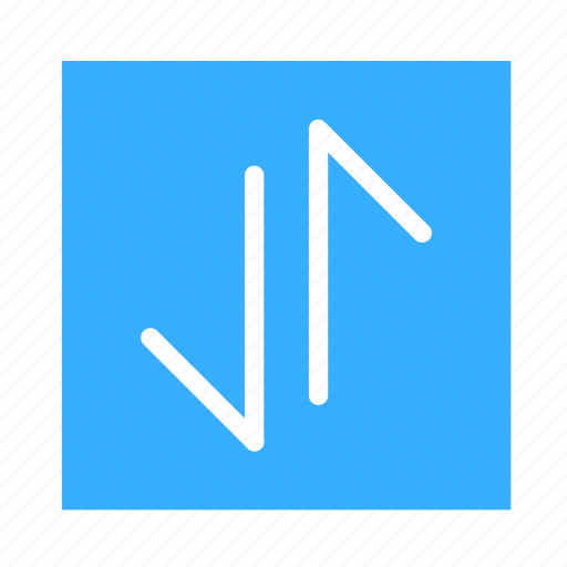 arrow, colored, down, line, square, ui, up icon