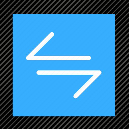 arrow, colored, left, line, right, square, ui icon