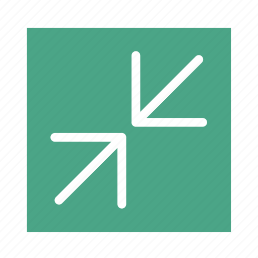 arrow, colored, in, line, resize, square, ui icon