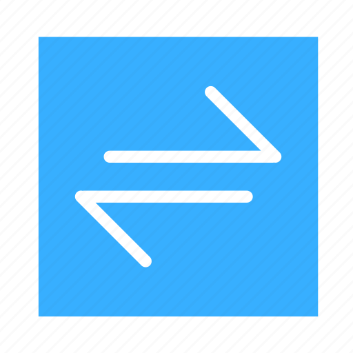 arrow, colored, left, line, right, square, ui icon