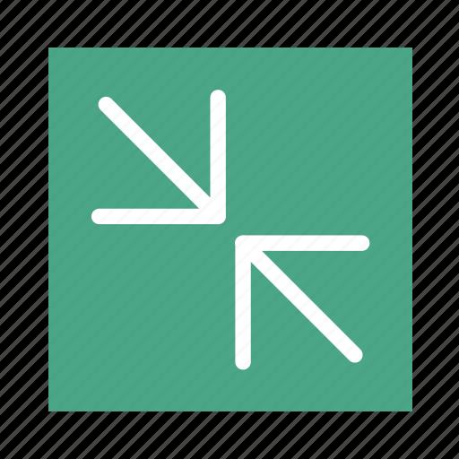 arrow, colored, in, line, square, ui, zoom icon