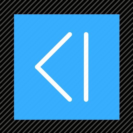 arrow, colored, foward, square, ui icon