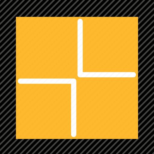arrow, colored, in, size, square, ui icon