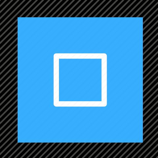 arrow, colored, square, stop, ui icon