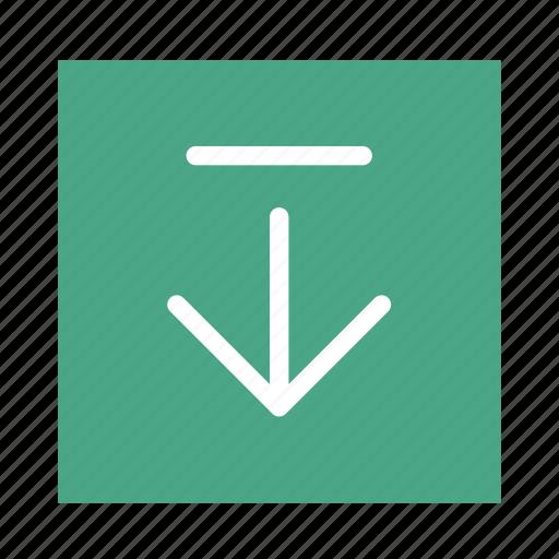 arrow, colored, down, end, square, stroke, ui icon