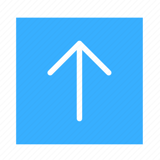 arrow, colored, line, square, stroke, ui, up icon