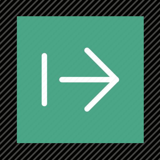 arrow, colored, end, right, square, stroke, ui icon