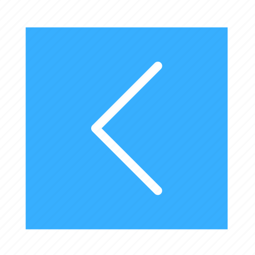 arrow, colored, left, square, stroke, ui icon