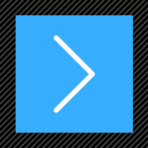 arrow, colored, right, square, stroke, ui icon