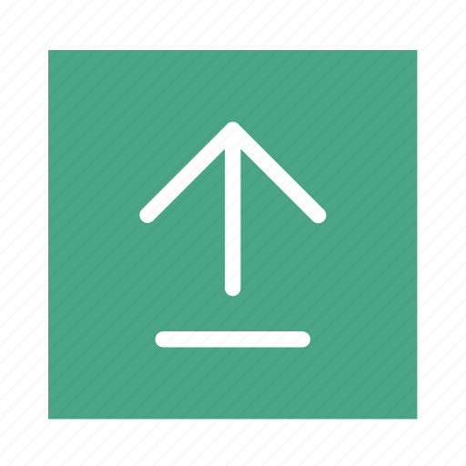 arrow, colored, end, square, stroke, ui, up icon