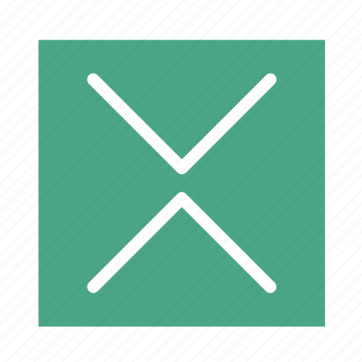 arrow, colored, down, in, square, ui, up icon