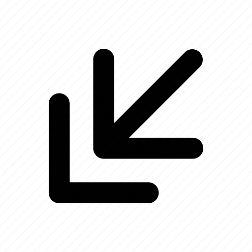 arrow, direction, double direction, line, navigation, turn icon
