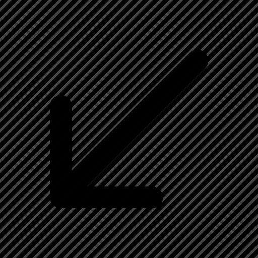 arrow, direction, line, navigation, turn icon