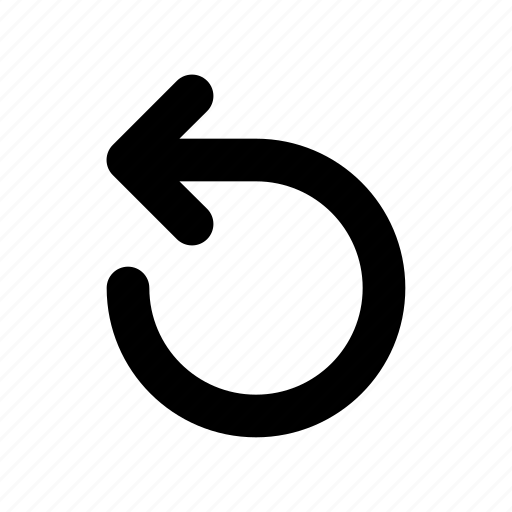 arrow, direction, left, line, navigation icon