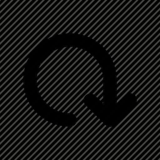 arrow, direction, down, navigation icon
