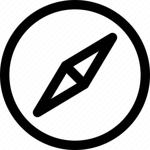 arrow, circle, compass, direction, pointer icon