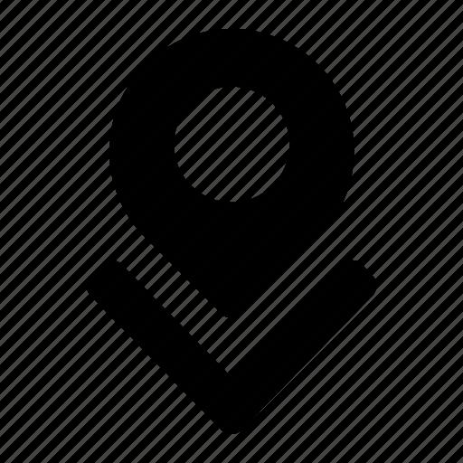 arrow, down, locate, location, navigate, position icon