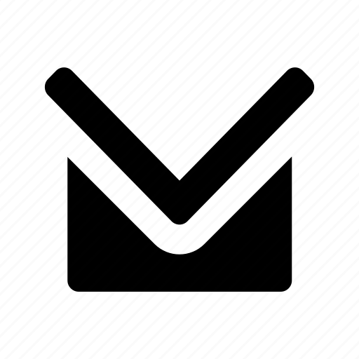 arrow, contact, down, email, mail, navigate icon