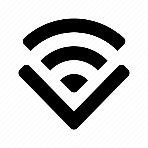 arrow, connect, connection, down, internet, signal, wi-fi icon
