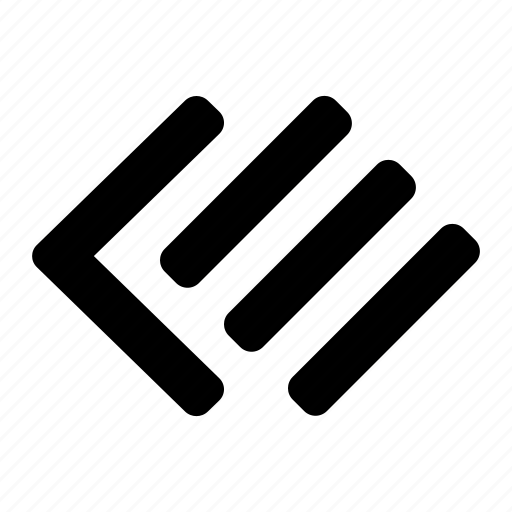 arrow, left, list, menu, navigate, side icon