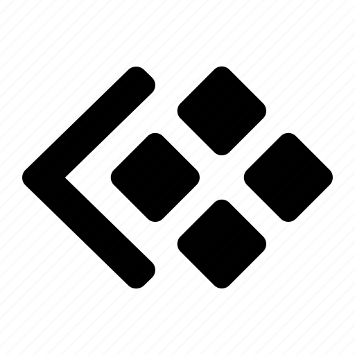 arrow, items, left, list, navigate, side, thumbnail icon