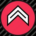abstract, arrow, design, internet, ui, ux, web icon